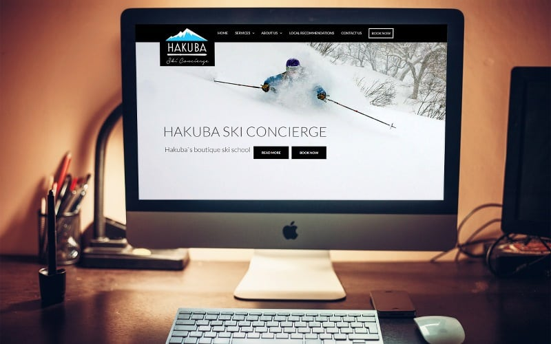 hakuba ski concierge tourism web design