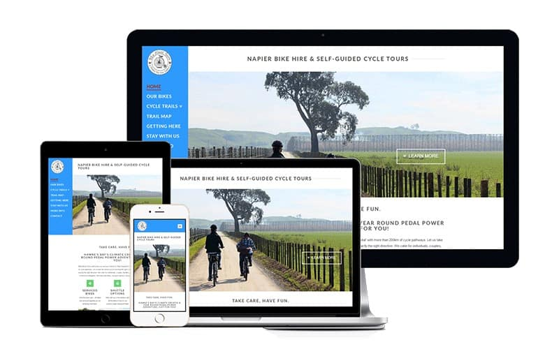 bike about tours website versions
