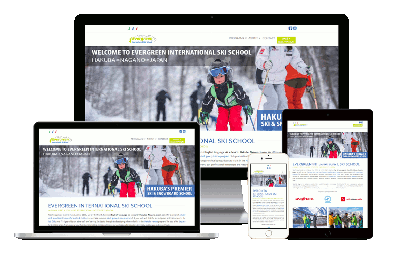 web design for tourism professionals and international ski schools