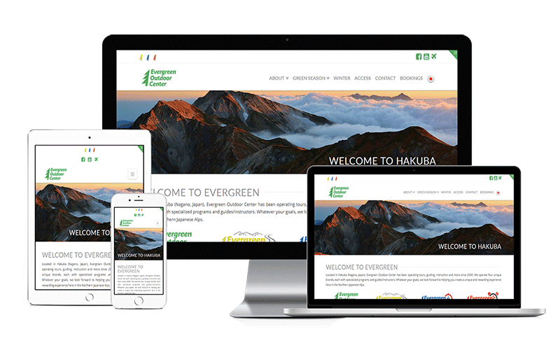 tourism website for evergreen outdoor center