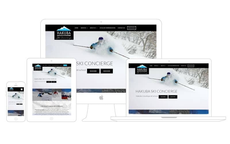 hakuba ski concierge website versions