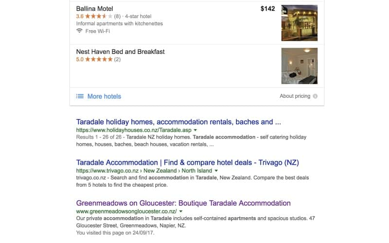 seo for a local accommodation business