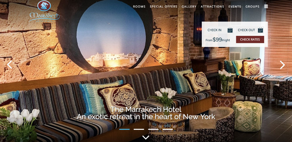 marrkakech hotel nyc website conversion