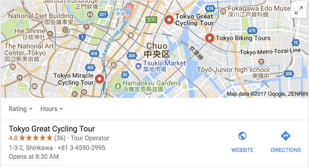 get more reviews for tokyo bike tours