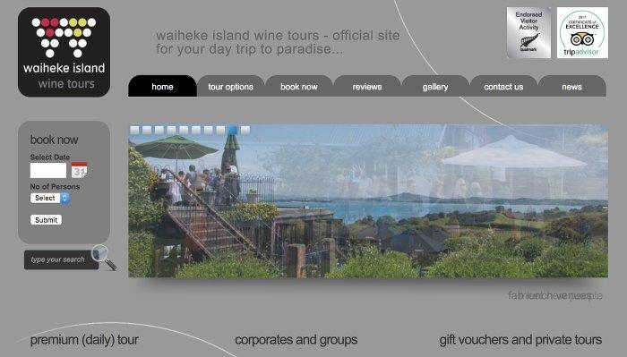 waiheke island wine tours - homepage